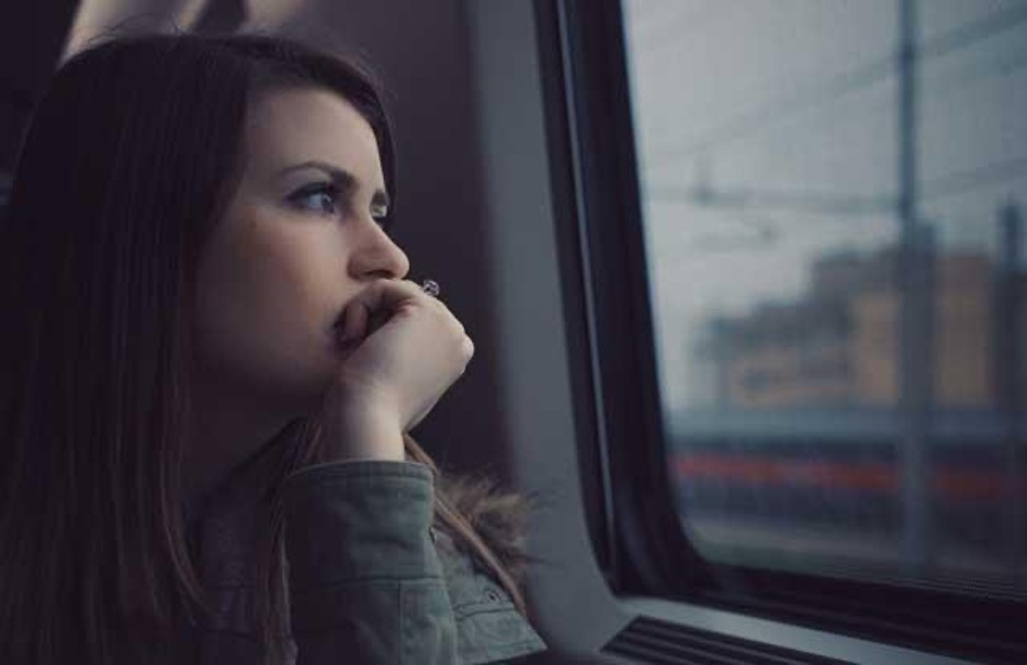 Woman with depression feeling sad and overwhelmed
